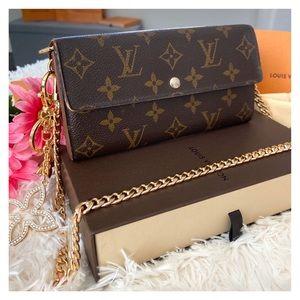 ❤️2008 Louis Vuitton Sarah Wallet Small Crossbody
